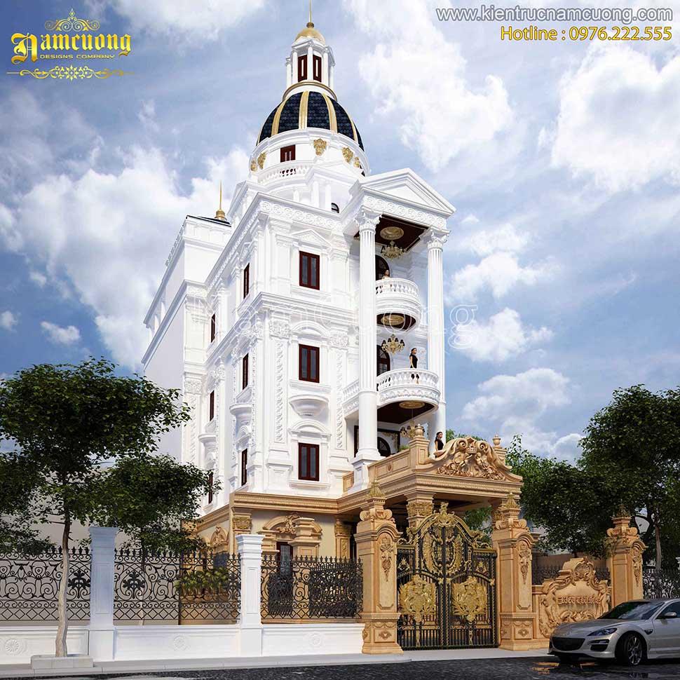 Hoành tráng lâu đài phố mặt tiền 8m phong cách cổ điển