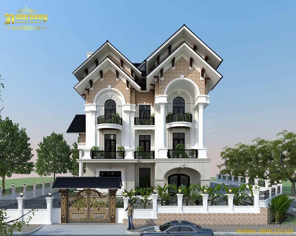 Những mẫu thiết kế biệt thự mái Thái 3 tầng đẹp ấn tượng