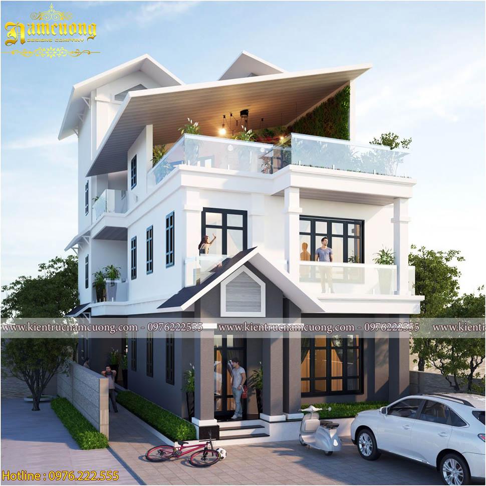 Top 3 mẫu biệt thự hiện đại 3 tầng đẹp