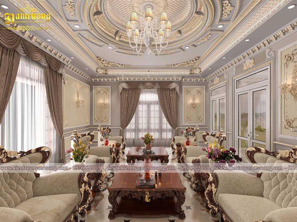 Mẫu thiết kế phòng khách đẹp cho biệt thự