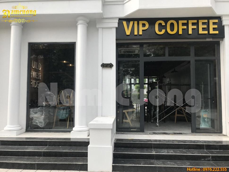 Thi công quán café VIP ấn tượng tại Hải Phòng