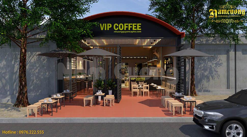 Bản vẽ mặt bằng quán cà phê VIP Coffee