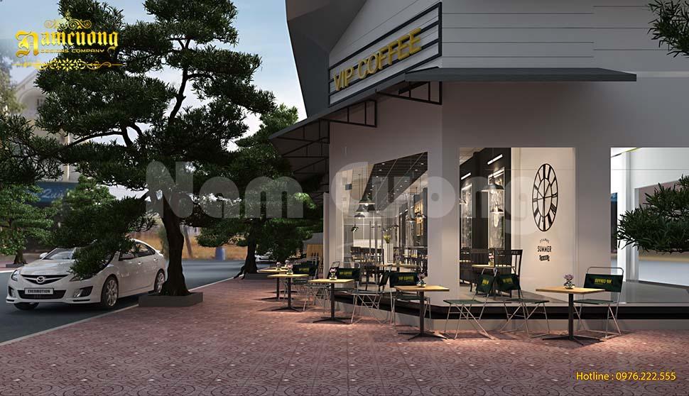Mẫu thiết kế quán cafe diện tích 100m2