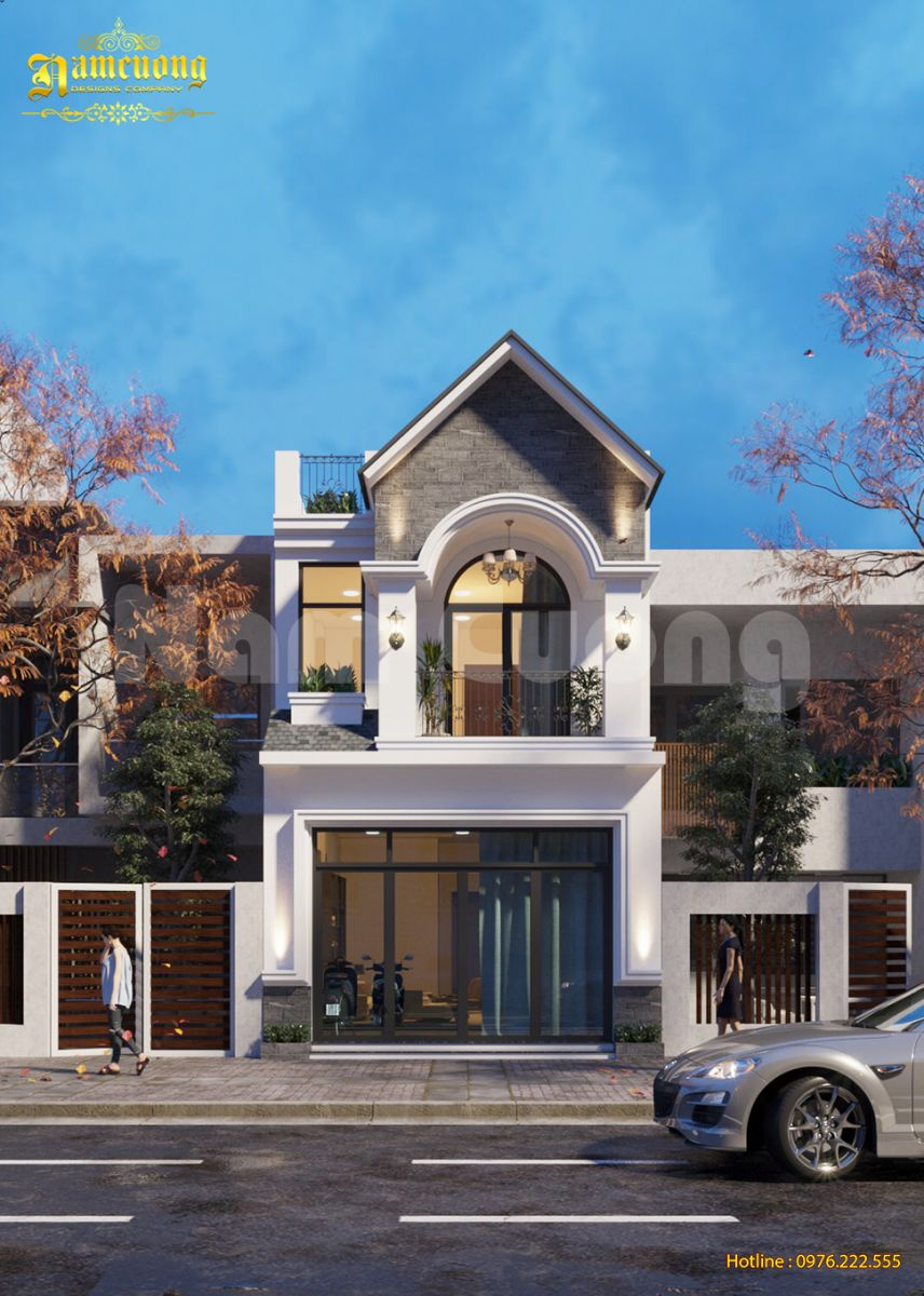 Nhà phố 2 tầng mái thái sang trọng và phong cách