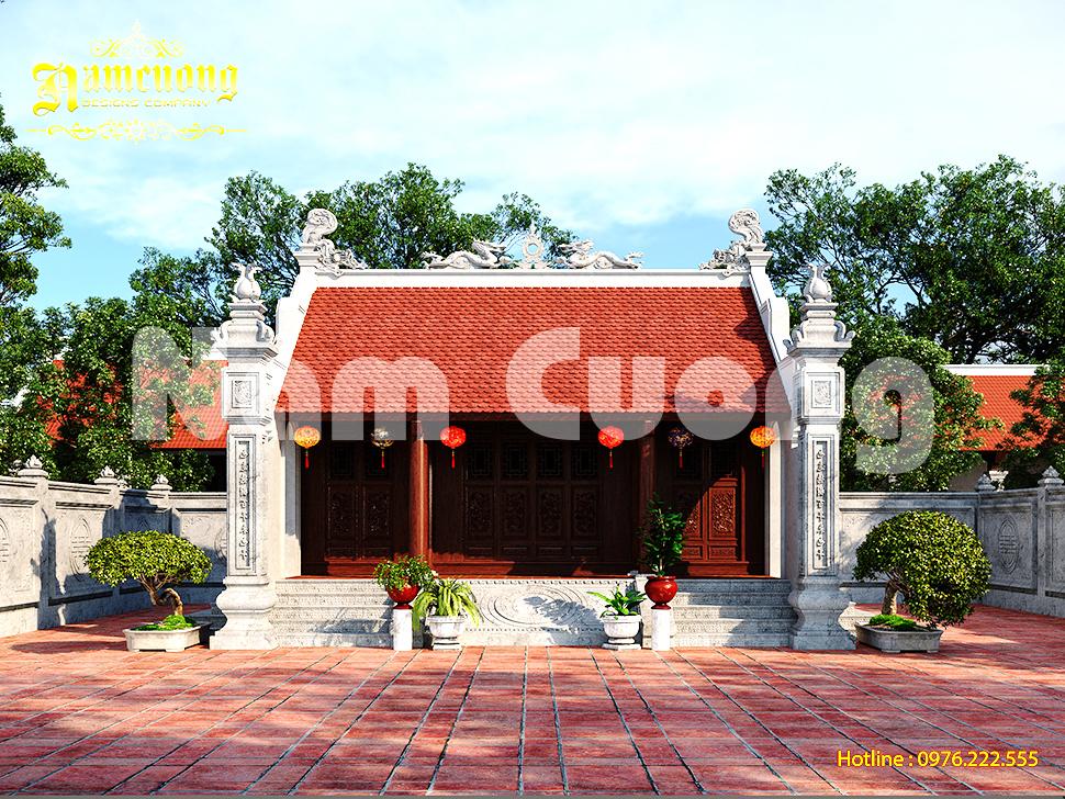 Mẫu thiết kế nhà thờ 40m2  siêu đẹp tại Thái Bình