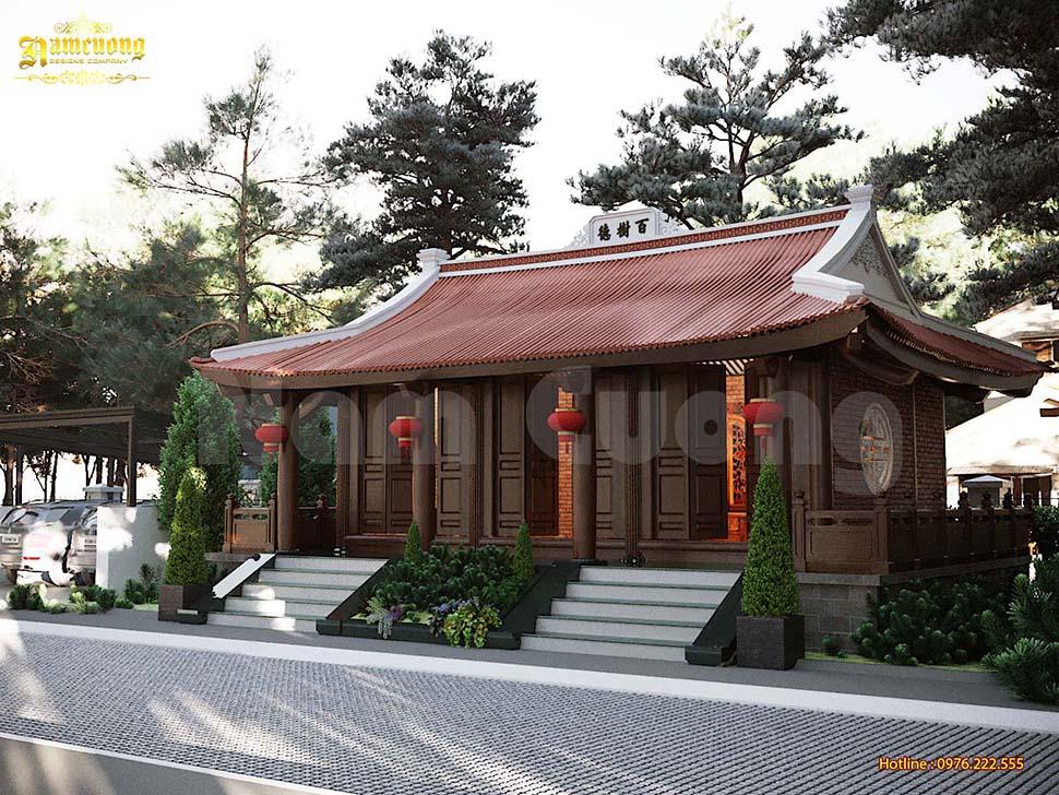 Thiết kế nhà thờ gia đình 3 gian truyền thống - CĐT chú Triển
