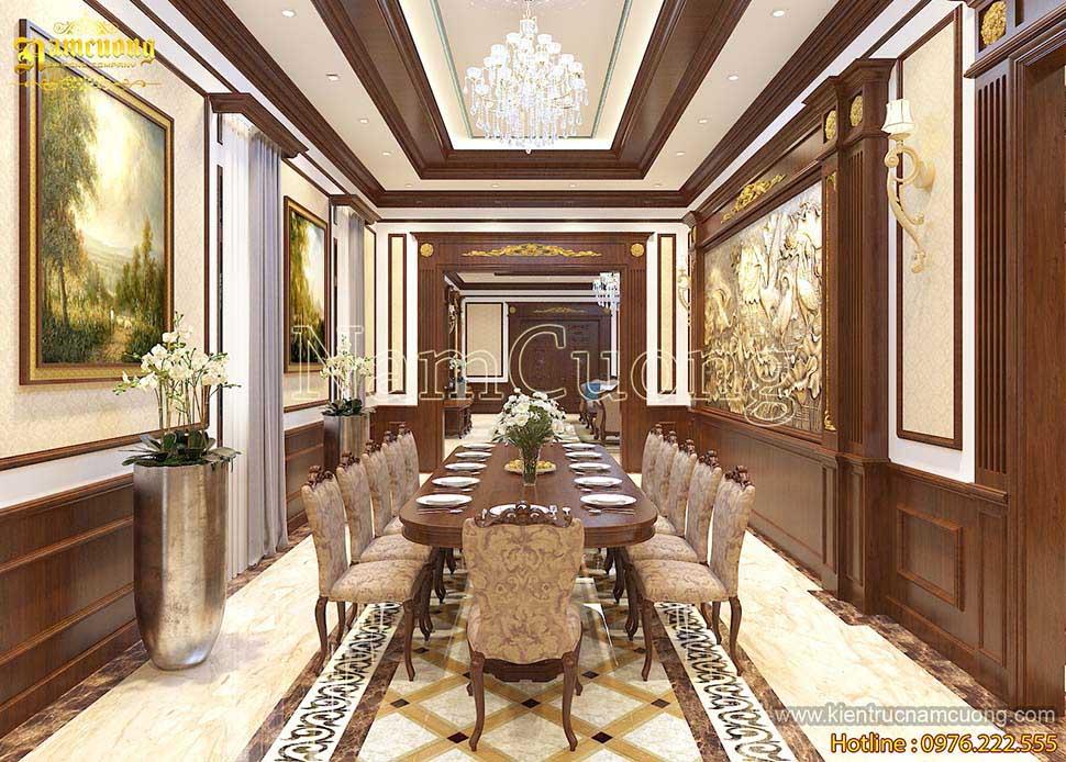 Mẫu nội thất bên trong biệt thự Pháp cổ điển