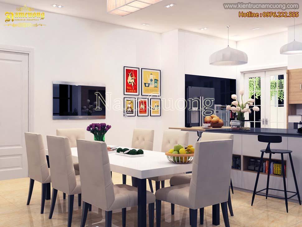 Mẫu thiết kế nội thất biệt thự 1 tầng hiện đại sang trọng