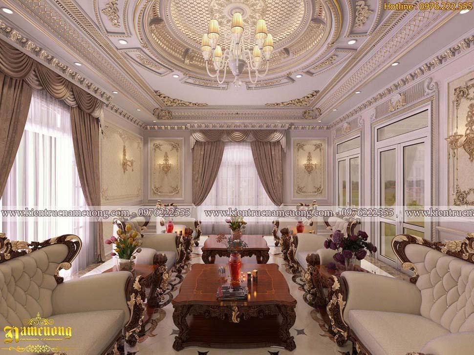 Mẫu thiết kế nội thất biệt thự Pháp hoành tráng