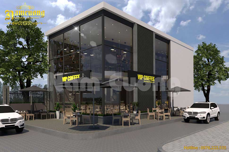 Gợi ý đến bạn mẫu nội thất cho quán cafe 3 tầng cực xinh