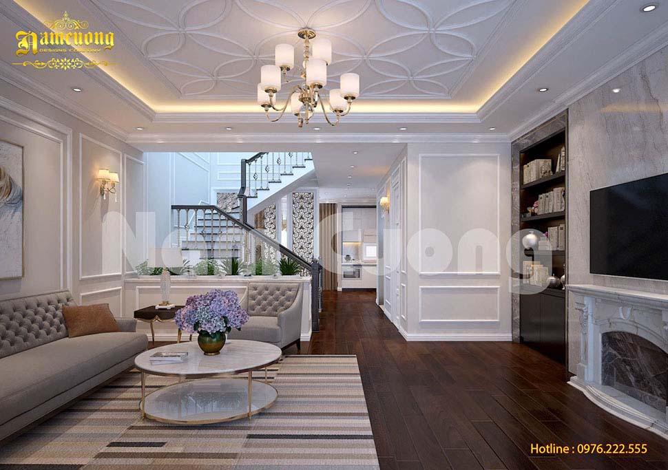 Mẫu thiết kế nội thất khách bếp nhà ống đẹp