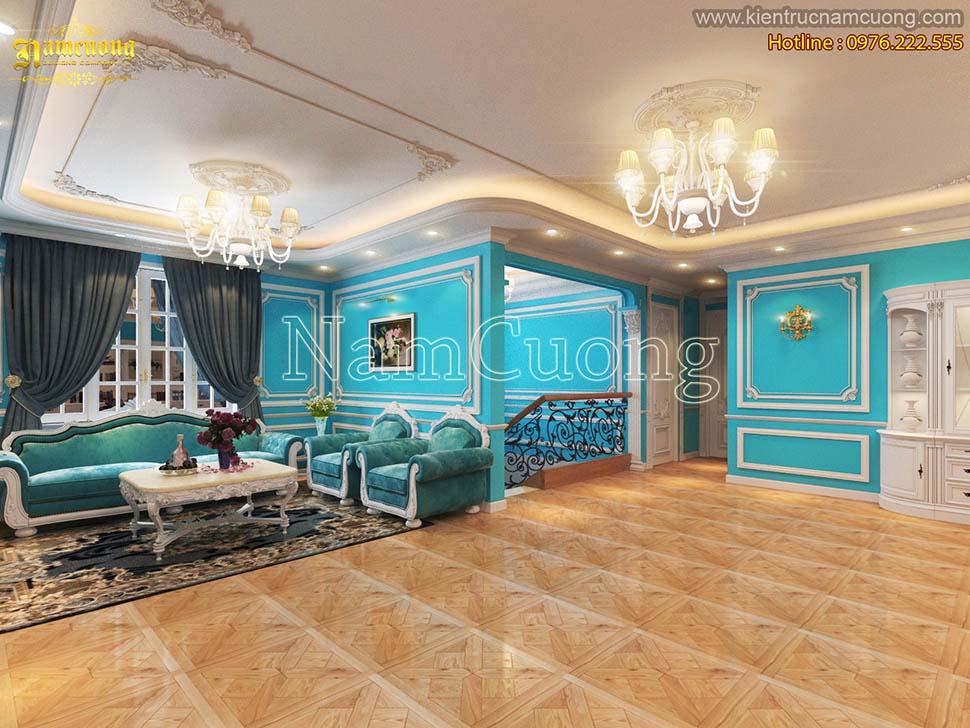 Nội thất màu xanh cho biệt thự độc đáo, sáng tạo