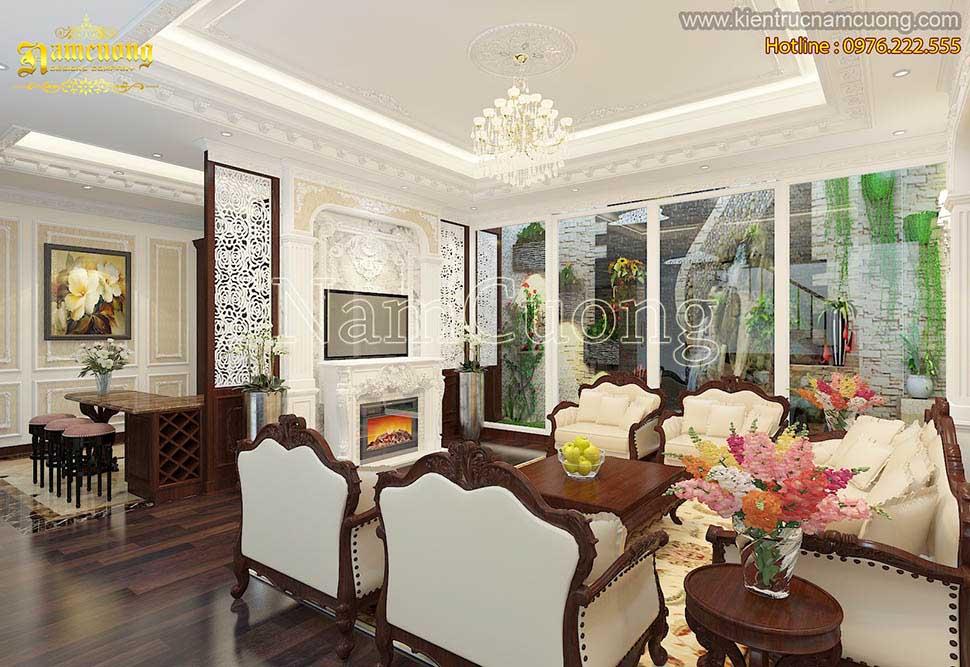 Thiết kế nội thất nhà biệt thự cổ đẹp tại Quảng Ninh