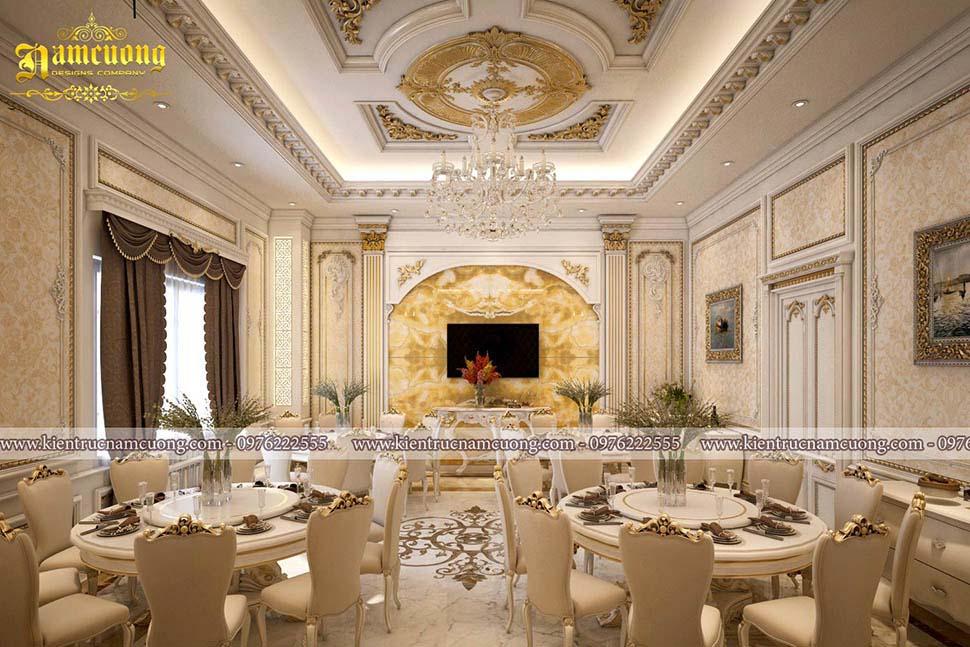 Mẫu thiết kế nội thất nhà hàng tiệc cưới hoành tráng tại Hải Phòng