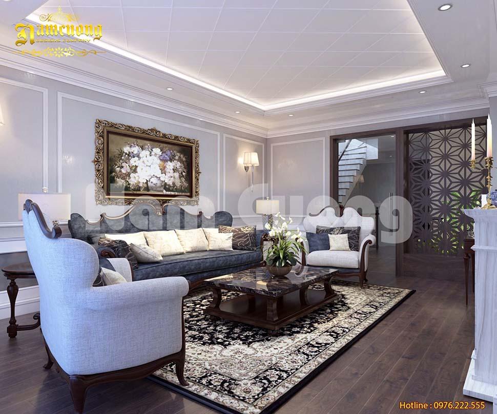 Mẫu thiết kế nội thất nhà ống 3 tầng sang trọng