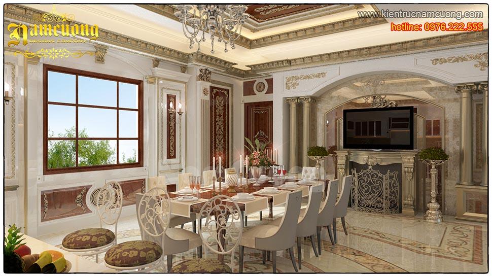 nội thất phòng ăn tân cổ điển đẹp