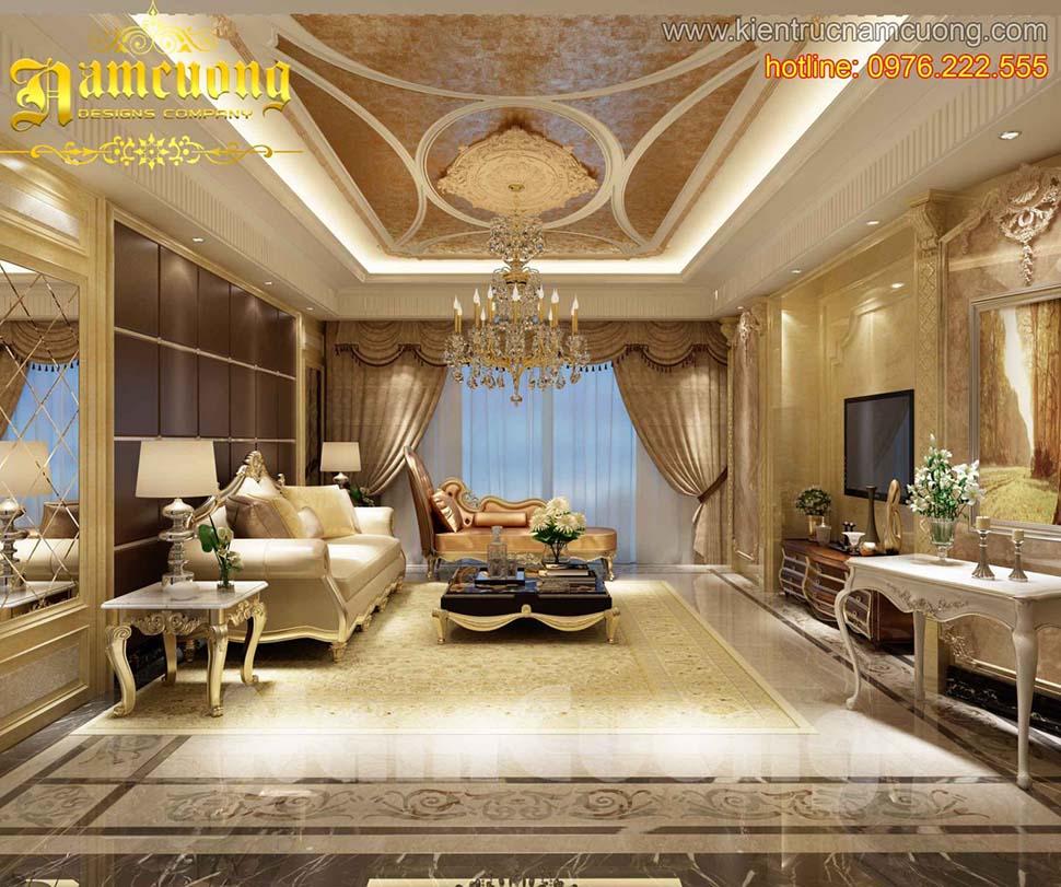 5 mẫu nội thất phòng khách tân cổ điển đẹp tại Sài Gòn