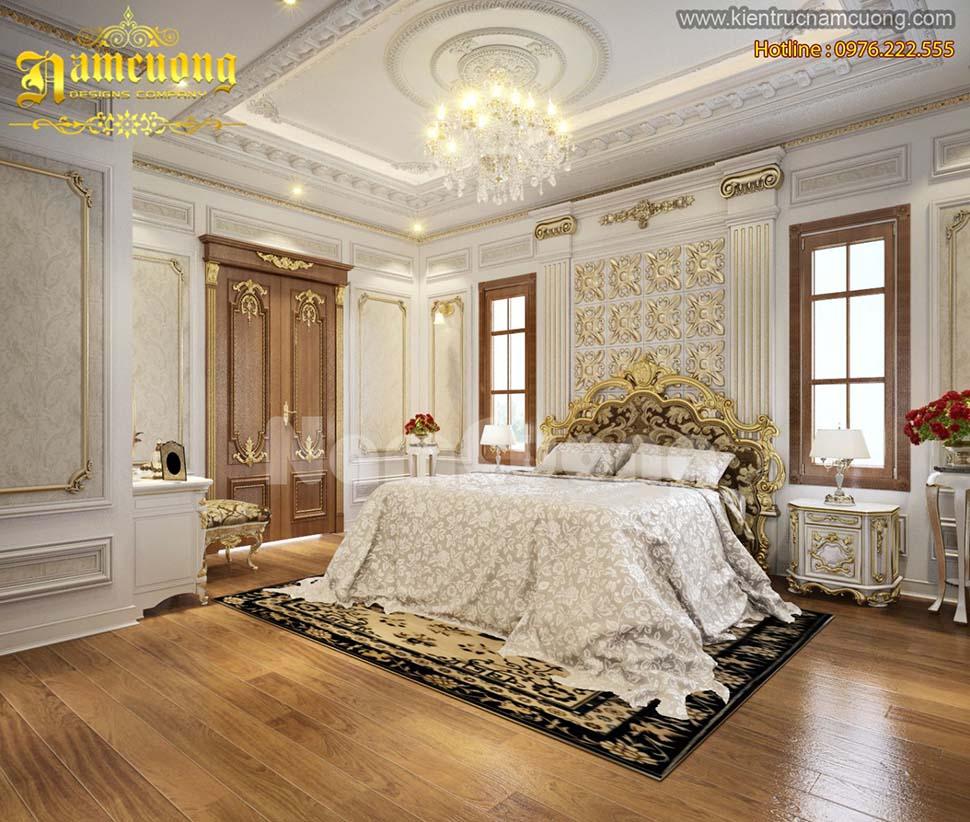 Những mẫu thiết kế nội thất phòng ngủ kiểu Pháp đẹp tại Sài Gòn