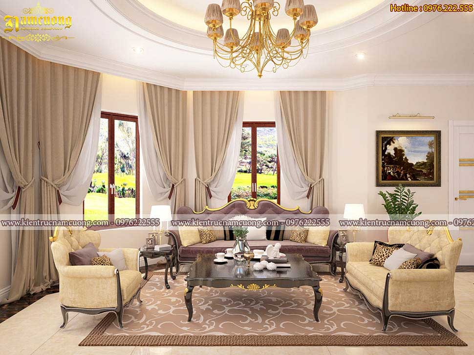 Mẫu thiết kế nội thất tân cổ điển lâu đài tại Thái Bình