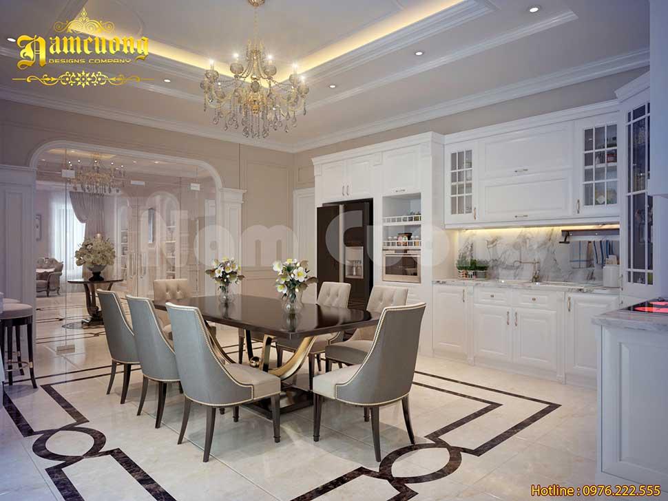 Mẫu nội thất tân cổ điển nhà 3 tầng cực ấn tượng