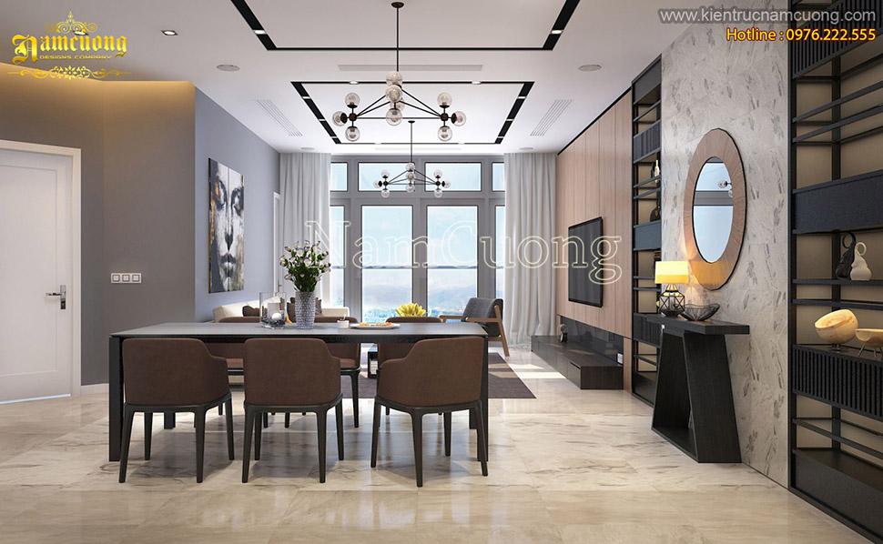 Mẫu thiết kế căn hộ chung cư hiện đại và sang trọng