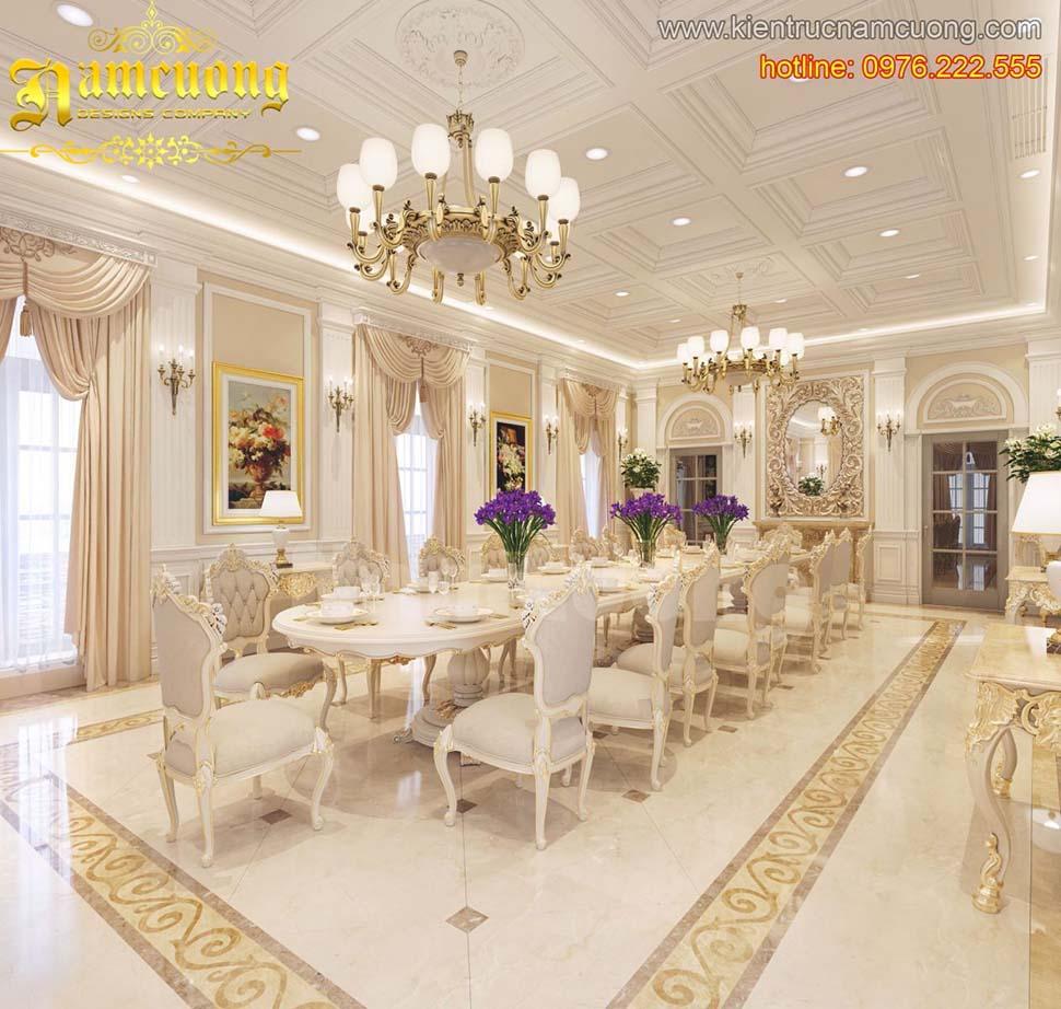 Các mẫu thiết kế phòng bếp biệt thự lâu đài
