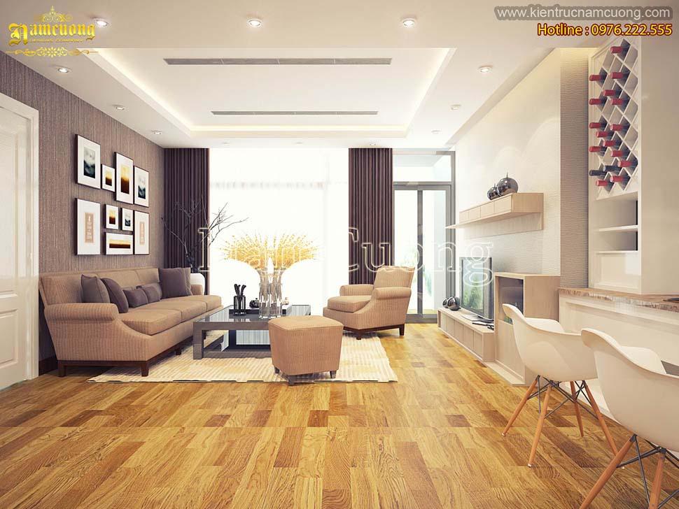 Thiết kế phòng khách liền bếp chung cư nhỏ tiện nghi, sáng tạo