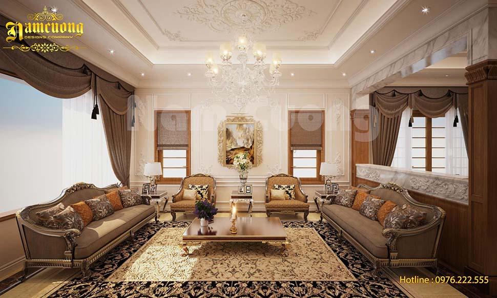 Thiết kế nội thất gỗ tự nhiên cho biệt thự 3 tầng