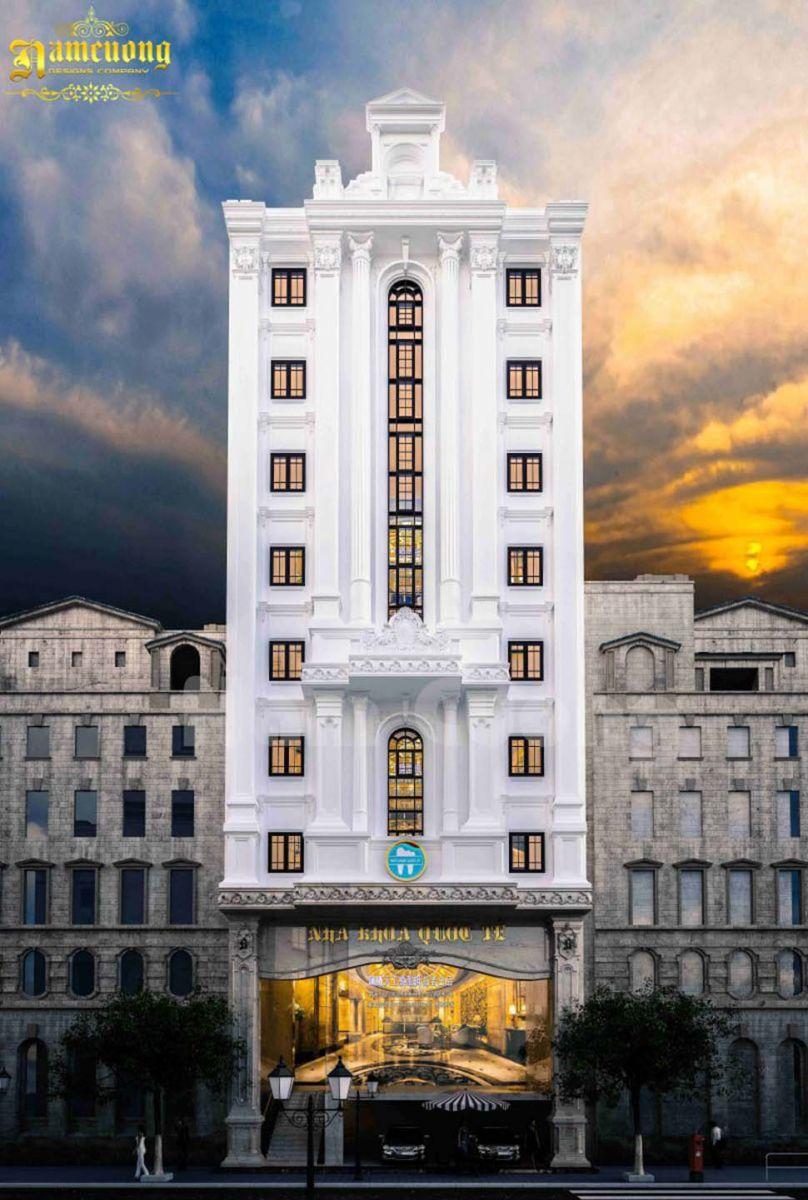 Mẫu thiết kế phòng khám nha khoa 9 tầng
