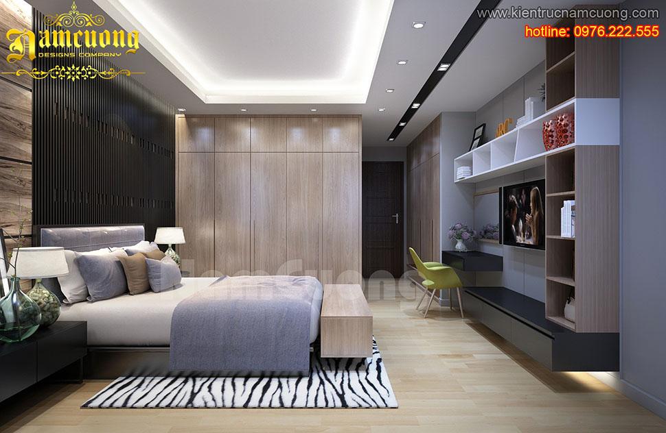 Các mẫu thiết kế nội thất phòng ngủ 20m2 hiện đại đẹp