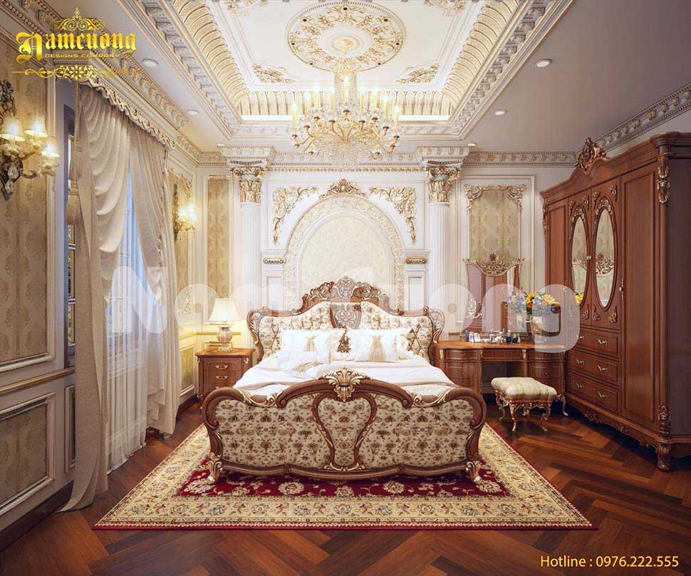 Cuộc sống đẳng cấp với mẫu phòng ngủ biệt thự lâu đài 30m2