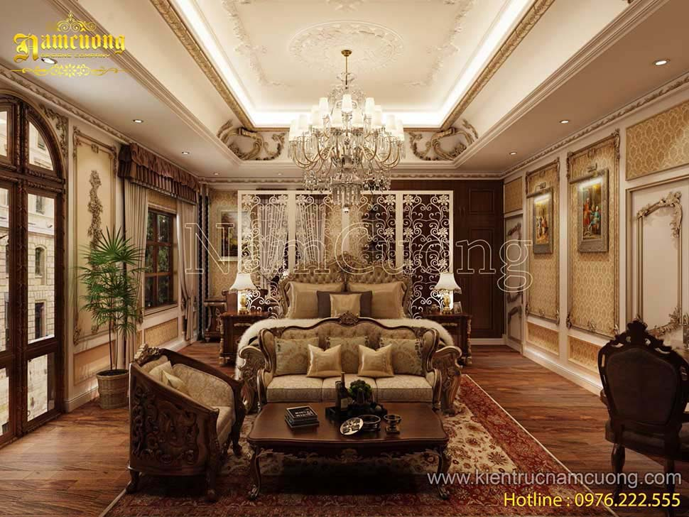 Hoành tráng các mẫu phòng ngủ biệt thự Pháp đẹp