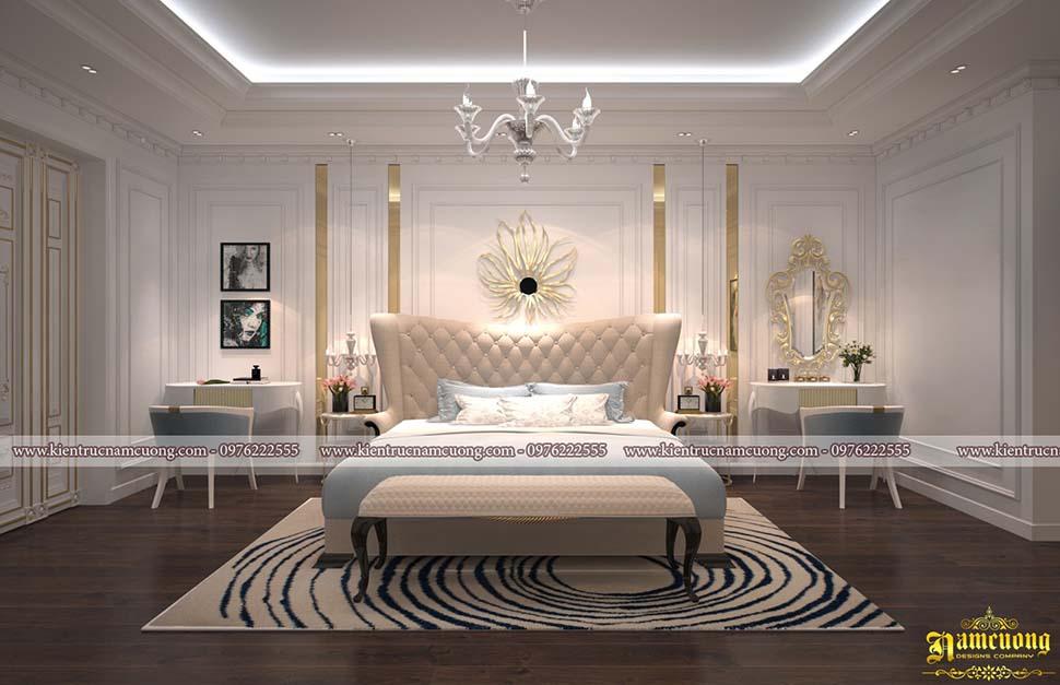 Thiết kế phòng ngủ biệt thự tân cổ điển hoành tráng