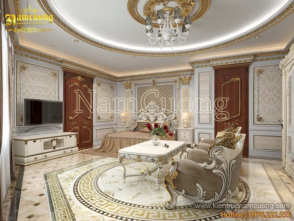 Thiết kế phòng ngủ có phòng khách độc đẹp