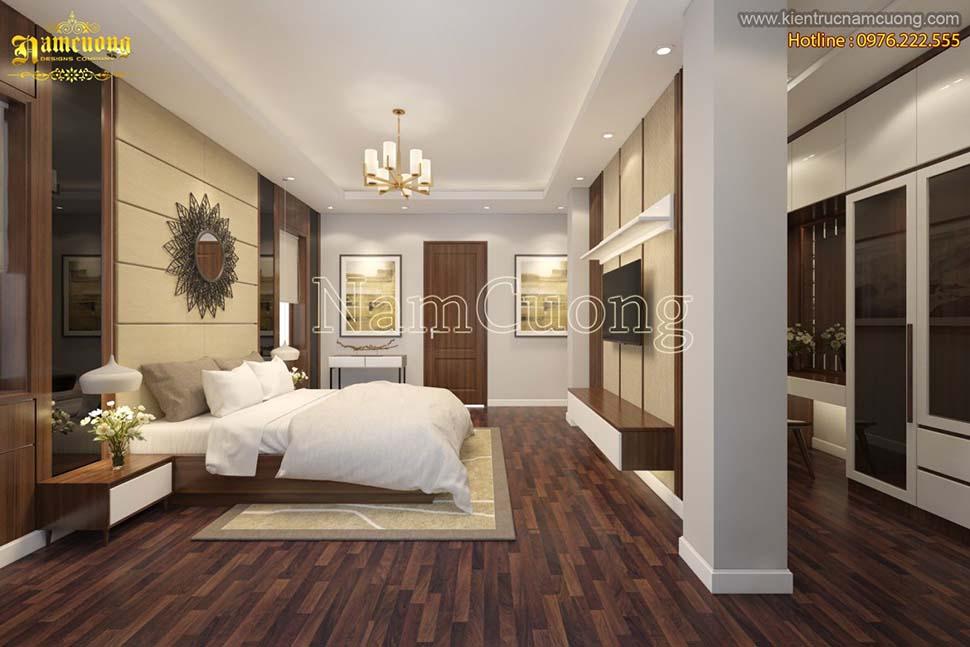 Thiết kế phòng ngủ có phòng thay đồ tiện nghi