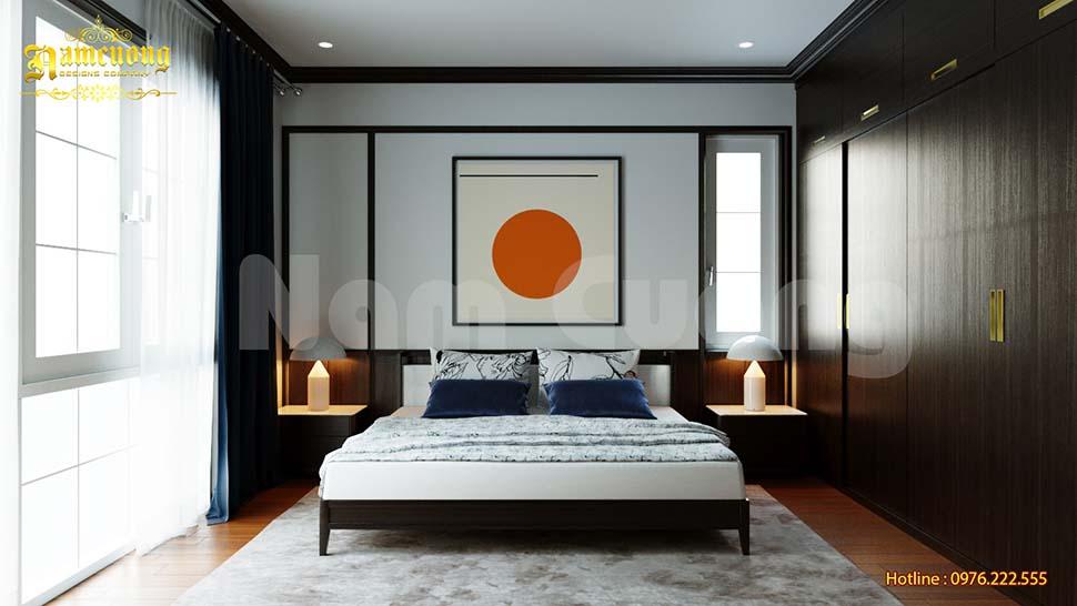 Các mẫu thiết kế phòng ngủ gỗ óc chó đẹp
