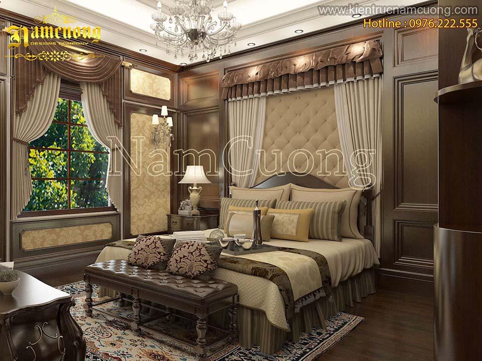 Các mẫu phòng ngủ master tân cổ điển đẹp