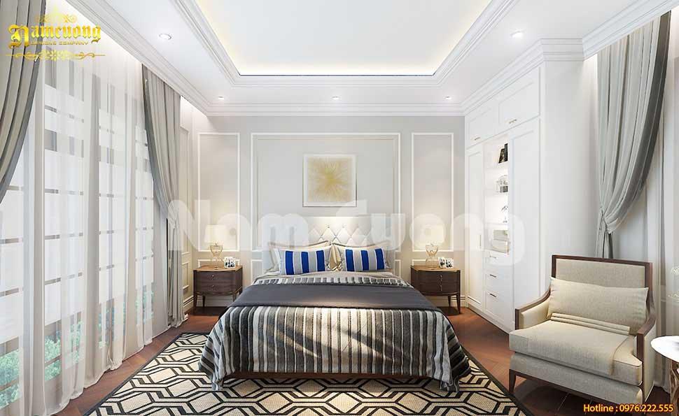 Mẫu phòng ngủ tân cổ điển không gian mở đẹp
