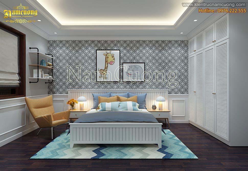Thiết kế nội thất phòng ngủ trẻ em đơn giản