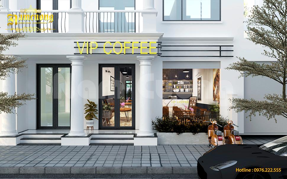 Thiết kế quán cafe trong Vinhomes Marina hút khách