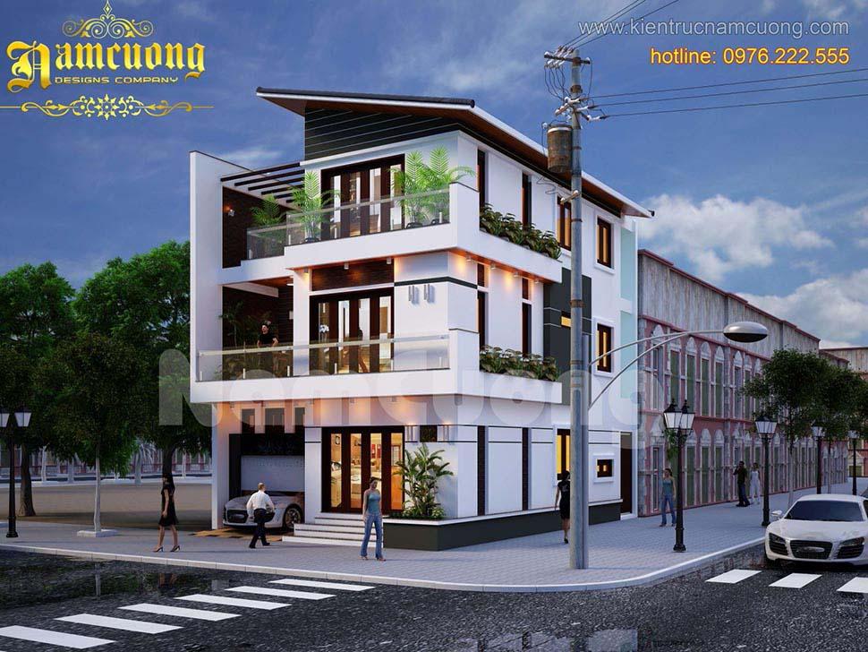 Thiết kế biệt thự hiện đại 4 tầng đẹp tại Hải Phòng