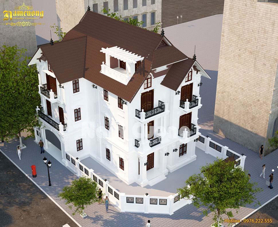2 phương án thiết kế biệt thự tân cổ điển 3 tầng siêu đẹp