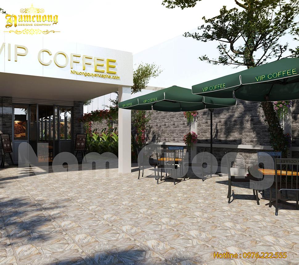 Mẫu thiết kế cafe sân vườn độc đáo tại Hải Phòng