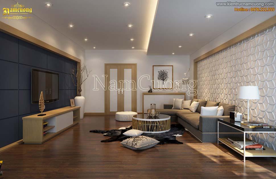 Mẫu thiết kế chung cư mini 50m2 tiện nghi, sang trọng