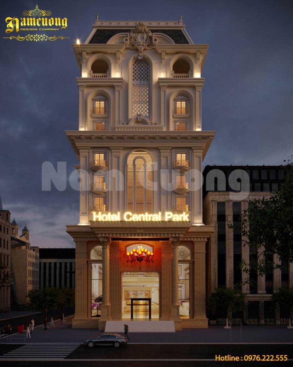Mẫu thiết kế khách sạn 3 sao 2 mặt tiền tại Sài Gòn