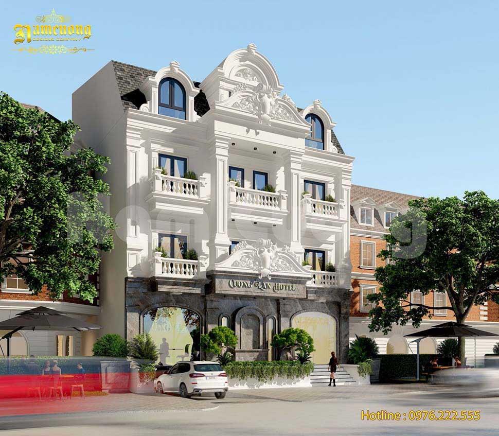 Mẫu thiết kế khách sạn kiểu Pháp siêu ấn tượng