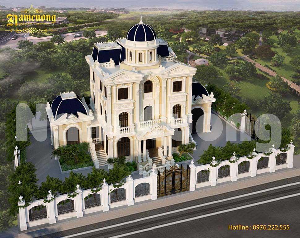 Mẫu thiết kế mặt tiền lâu đài Pháp đẹp đỉnh cao