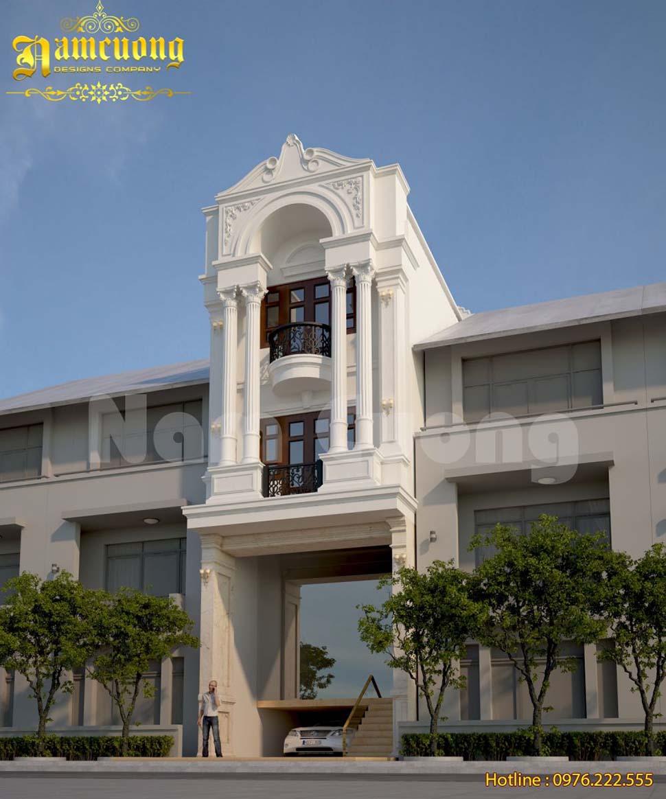Thiết kế nhà ống kiến trúc Pháp có tầng hầm tại Đà Nẵng