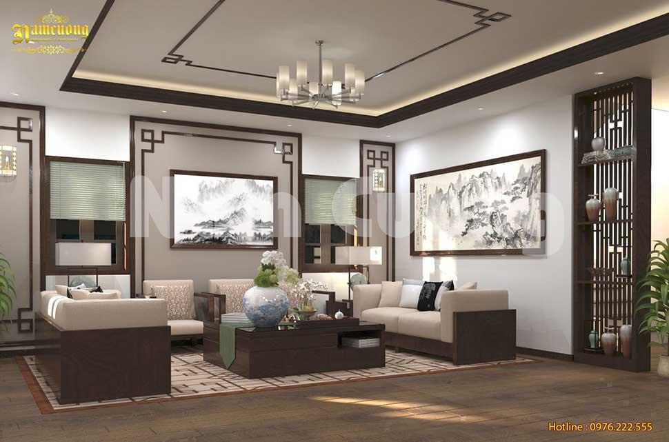 Mẫu thiết kế nội thất biệt thự đẹp 2 tầng tại Quảng Ninh