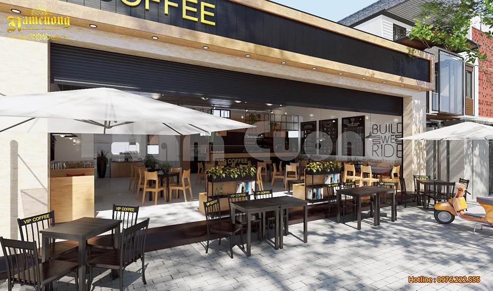 Thiết kế nội thất cafe đơn giản hiệu quả cao